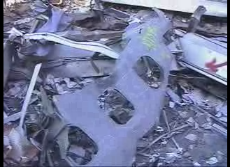 plane parts WTC5 video fuselage zoomed out